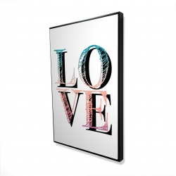 Framed 24 x 36 - 3D - Colorful love