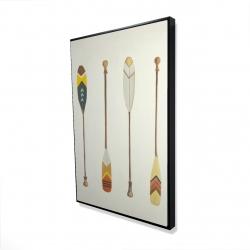 Framed 24 x 36 - 3D - Canoe paddles