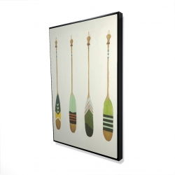 Framed 24 x 36 - 3D - Colorful nautical oars