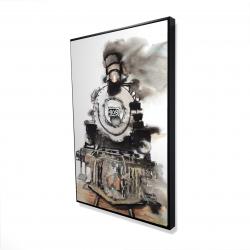 Framed 24 x 36 - 3D - Vintage train