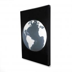 Framed 24 x 36 - 3D - Earth satellite view