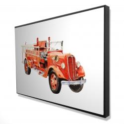 Framed 24 x 36 - 3D - Vintage fire truck