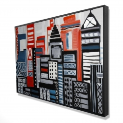Framed 24 x 36 - 3D - Geometric urban landscape
