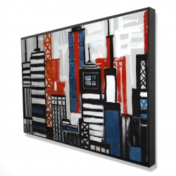 Framed 24 x 36 - 3D - Geometric towers and buildings