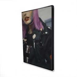 Framed 24 x 36 - 3D - Young punk woman