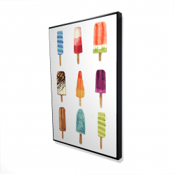 Framed 24 x 36 - 3D - Iced lollipop