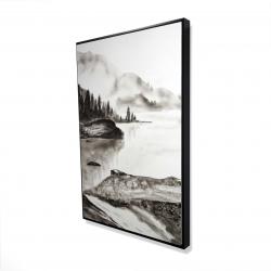 Framed 24 x 36 - 3D - Peaceful landscape