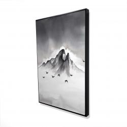 Framed 24 x 36 - 3D - Mountain peak