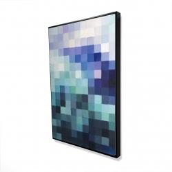 Framed 24 x 36 - 3D - Pixelized landscape