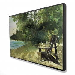 Framed 24 x 36 - 3D - Day at the lake
