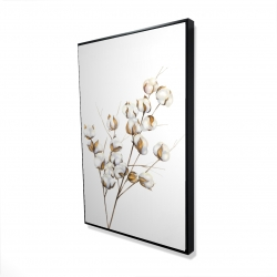 Framed 24 x 36 - 3D - A branch of cotton flowers