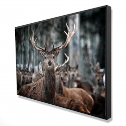 Framed 24 x 36 - 3D - Stags