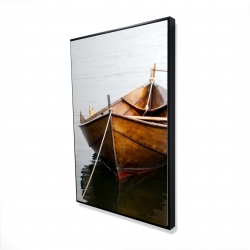 Framed 24 x 36 - 3D - Rowboat on calm water