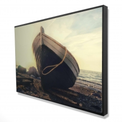 Framed 24 x 36 - 3D - Rowboat at the water's edge