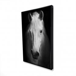 Framed 24 x 36 - 3D - Monochrome horse
