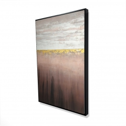 Framed 24 x 36 - 3D - Golden pink