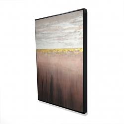 Framed 24 x 36 - 3D - Golden pink