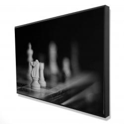 Framed 24 x 36 - 3D - Monochrome chess games