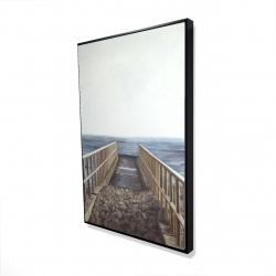 Framed 24 x 36 - 3D - Relaxing beach