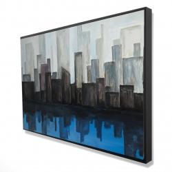 Framed 24 x 36 - 3D - View of a blue city