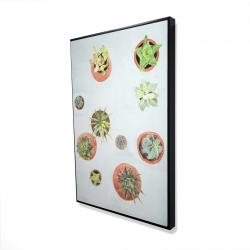 Framed 24 x 36 - 3D - Cactus plants