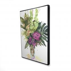 Framed 24 x 36 - 3D - Tropical flower assemblage