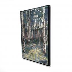 Framed 24 x 36 - 3D - Birches