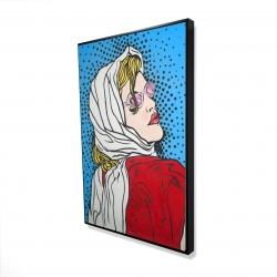 Framed 24 x 36 - 3D - Pop art woman