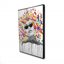 Framed 24 x 36 - 3D - Woman street art pop