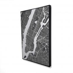Framed 24 x 36 - 3D - New-york city plan