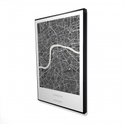 Framed 24 x 36 - 3D - Graphic map of london