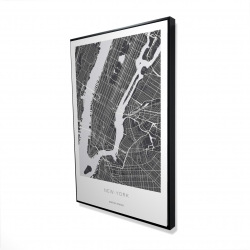 Framed 24 x 36 - 3D - New york graphic map