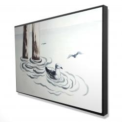 Framed 24 x 36 - 3D - Seagull