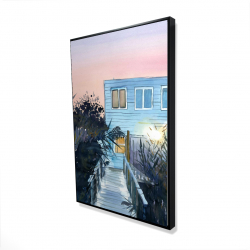 Framed 24 x 36 - 3D - Beach house