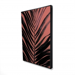 Framed 24 x 36 - 3D - Coral tropical palm leave