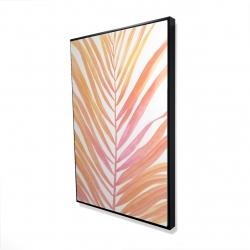 Framed 24 x 36 - 3D - Glam palm leaf