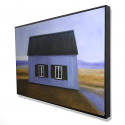 Framed 24 x 36 - 3D - Blue barn
