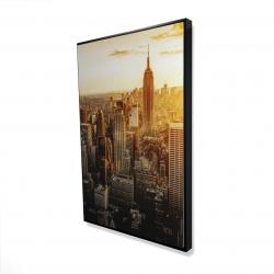 Framed 24 x 36 - 3D - New york city at sunset
