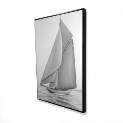 Framed 24 x 36 - 3D - Vintage sailing ship