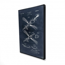 Framed 24 x 36 - 3D - Blueprint of a fish lure