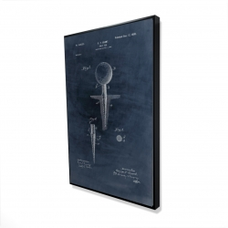 Framed 24 x 36 - 3D - Blueprint of golf tee