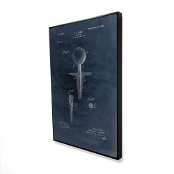 Framed 24 x 36 - 3D - Blueprint of golf tee