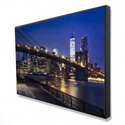 Framed 24 x 36 - 3D - City at night