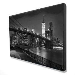 Framed 24 x 36 - 3D - City under the night