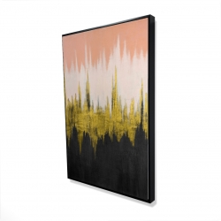 Framed 24 x 36 - 3D - Abstract zigzag