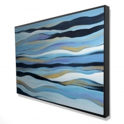Framed 24 x 36 - 3D - Blue sweep