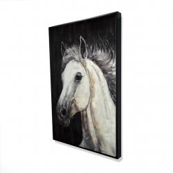 Framed 24 x 36 - 3D - White star horse