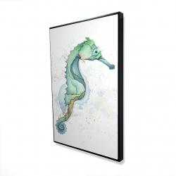 Framed 24 x 36 - 3D - Sea horse