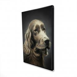 Framed 24 x 36 - 3D - Field spaniel
