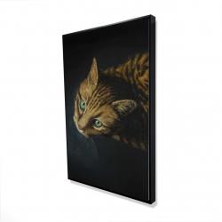Framed 24 x 36 - 3D - Bengal cat